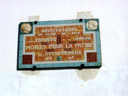 Plaque commemorative mairie